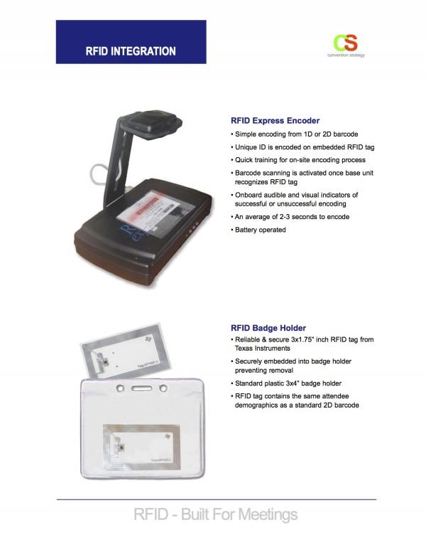RFID Registration